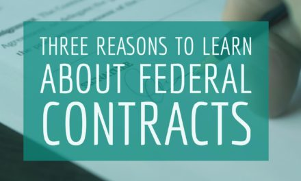 Three reasons to learn about government contracts