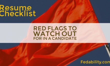 Resume checklist: 5 red-flags to watch out for in a candidate