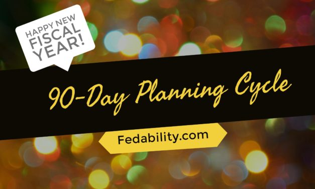 Happy New Fiscal Year: The start of my 90-day planning cycle