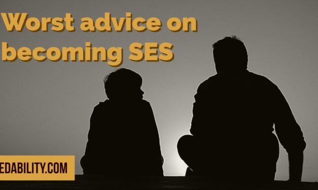 Worst advice on becoming SES I've ever heard