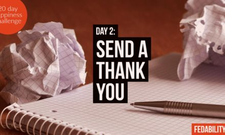Send a thank you: Day 2 of the Happiness Challenge