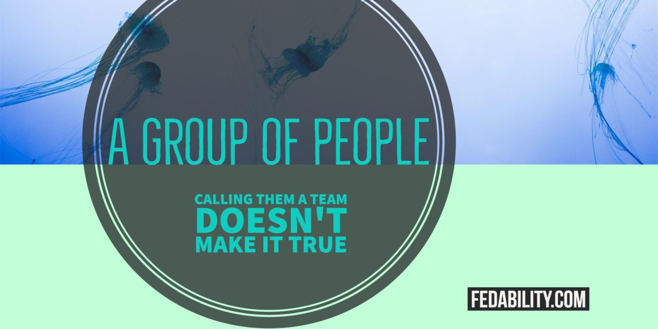 A group of people: Calling them a team doesn't make it true