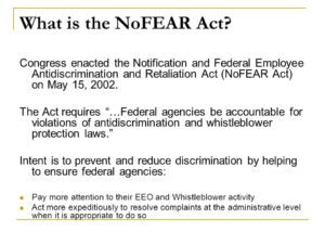 No Fear Act training requirement