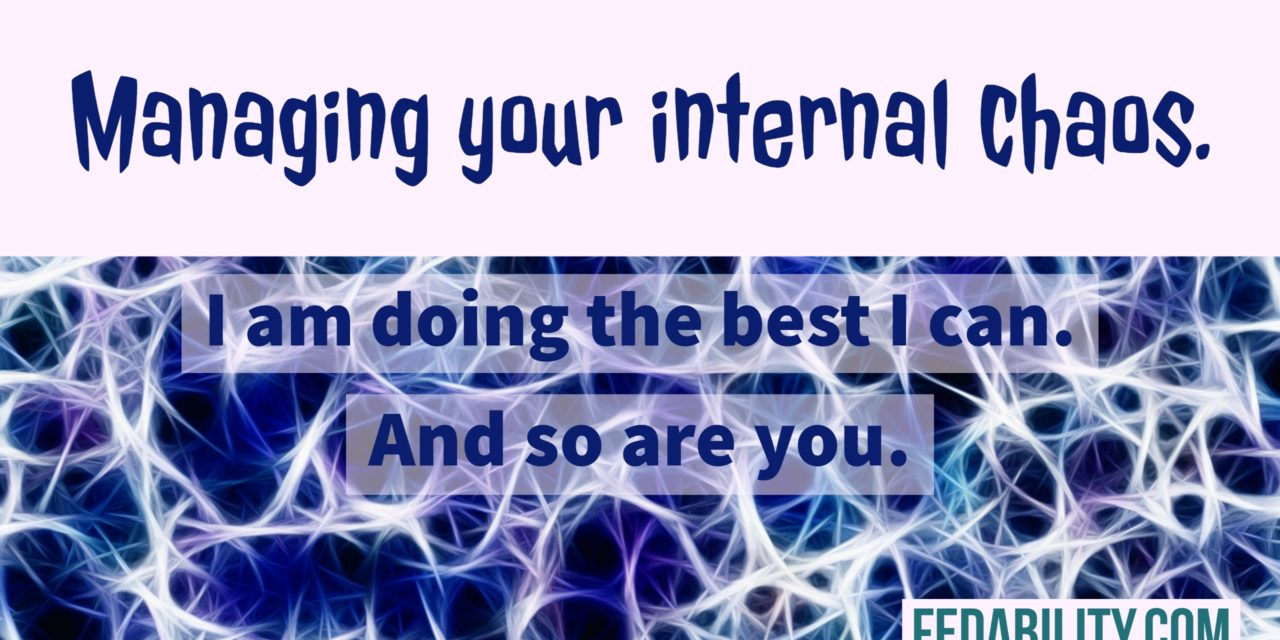 I am doing the best I can. And so are you. Combating your internal chaos.