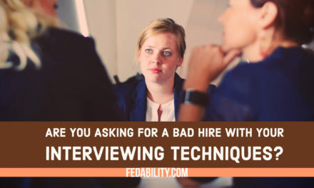Conducting an interview? No interview preparation is asking for a bad hire