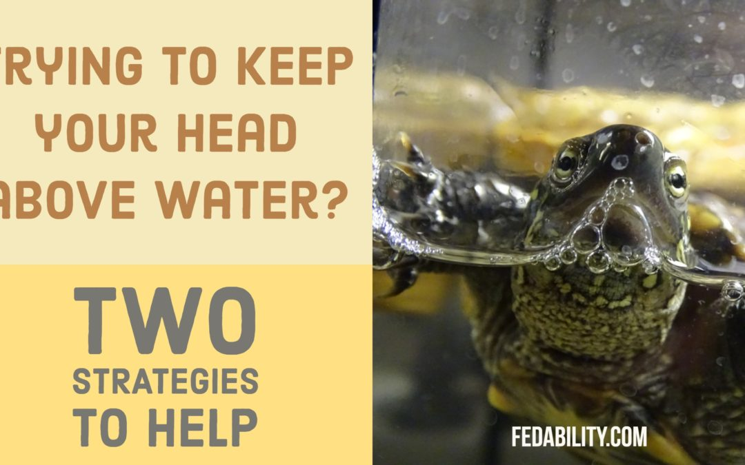 Trying to keep your head above water? Here's two strategies.