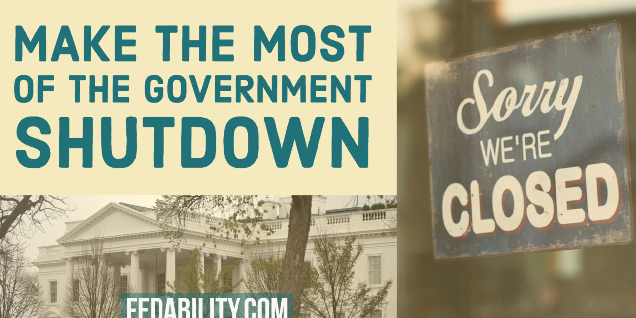 Make the most of the government shutdown