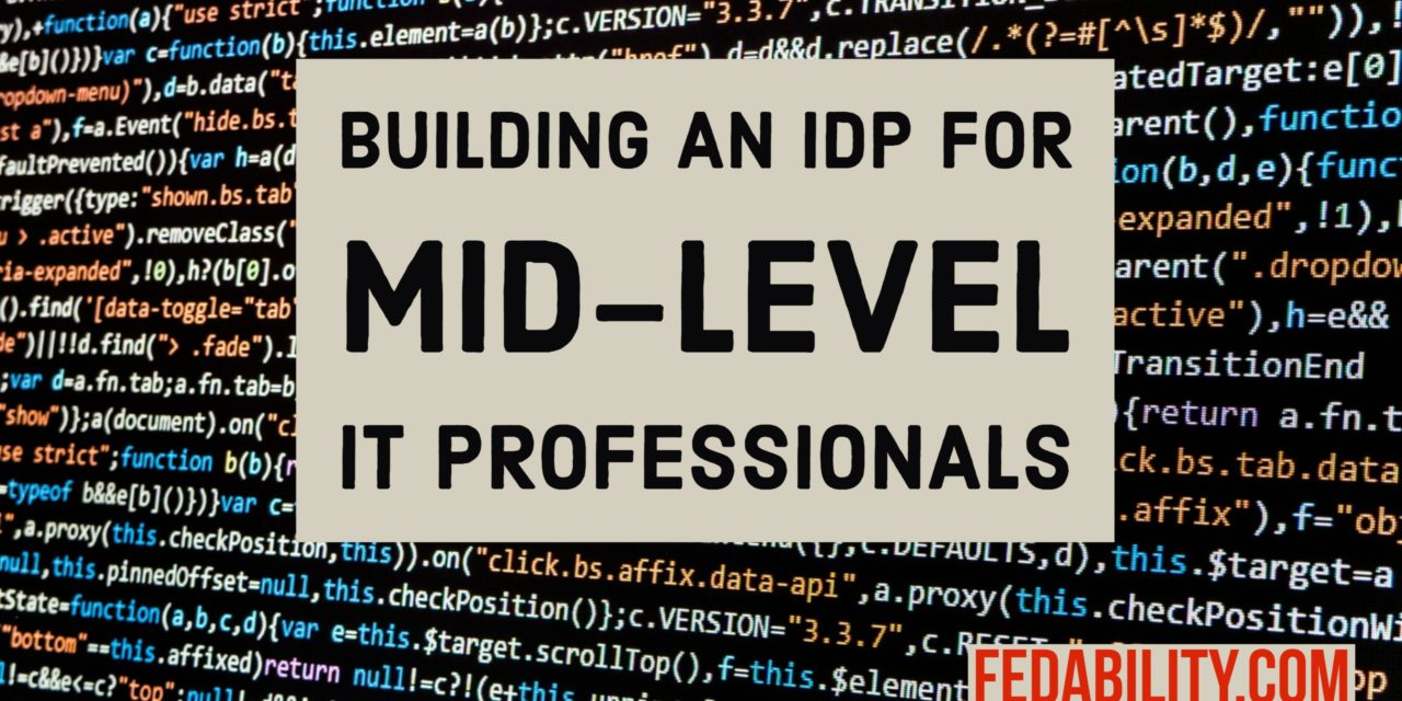 Building IT professionals: Template IDP for mid-level IT professionals