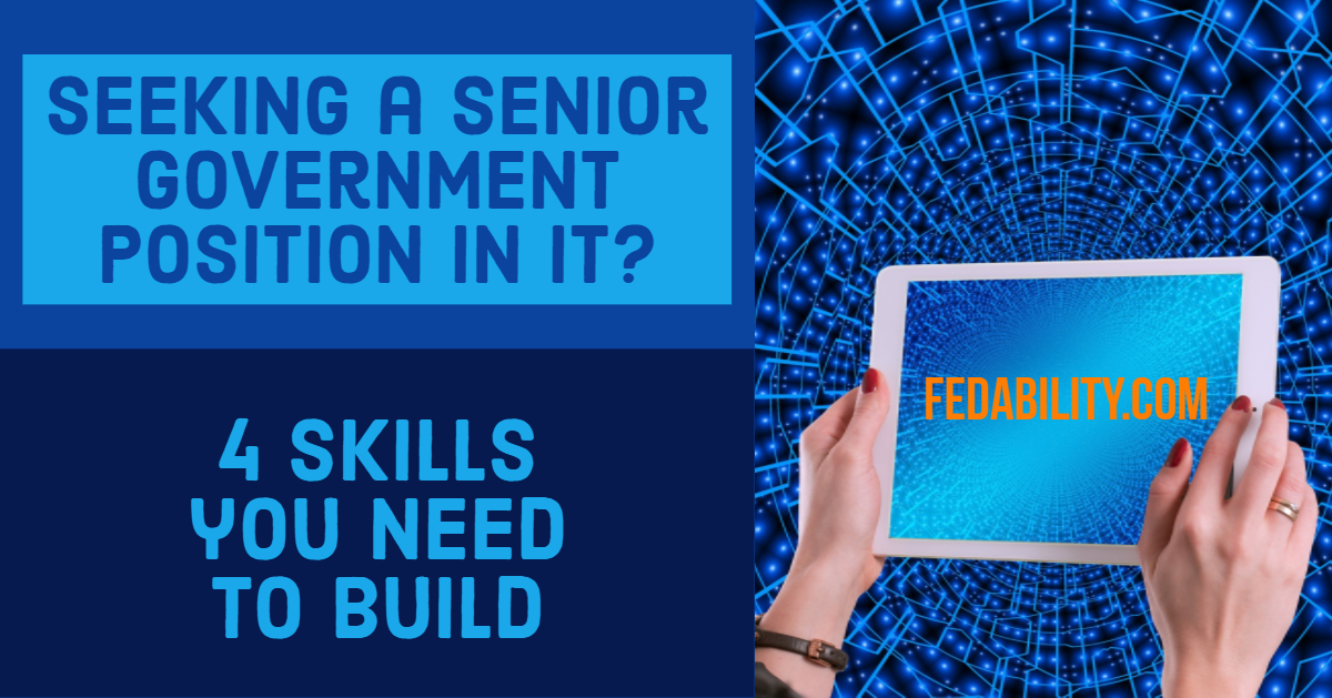 Seeking a senior government position in IT? 4 skills you need
