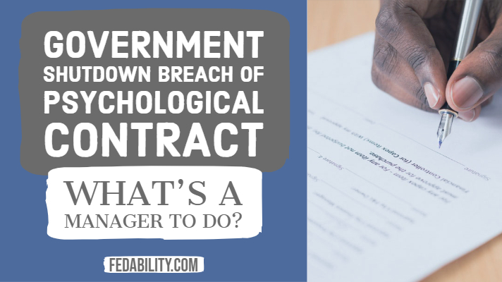 Government shutdown as a psychological contract breach: What's a manager to do?